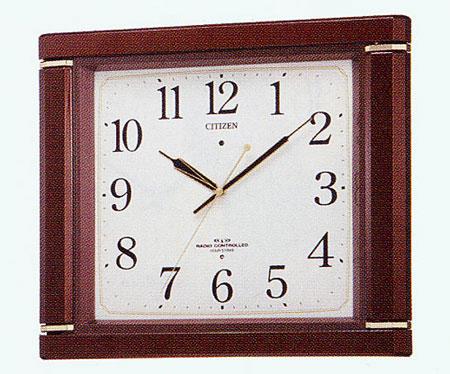 リズム ネムリーナ494R電波掛け時計 メロディ報時時計 送料無料