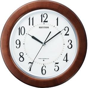 リズム 電波掛け時計 丸型 リバライトF461SR 送料無料(15)