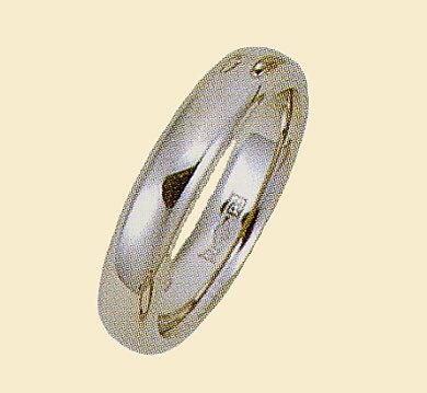プラチナ900 結婚指輪 ブライダルリング 平打甲丸 ファッションリング エンゲージリング 幅4mm 白金リング 白い指輪 送料無料
