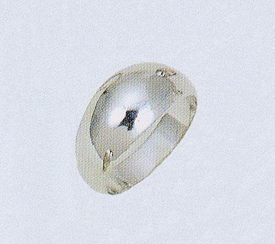 PT900 プラチナリング 月形甲丸 無地リング 白金 ファッションリング 白い指輪 送料無料