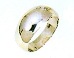 PT900 プラチナ 月形甲丸 白金 無地リング 8mm幅 白い指輪 ファッションリング 男女兼用リング 送料無料