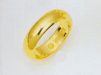 純金.K24無垢.甲丸無地リング.結婚指輪(5.0mm幅均一)(送料無料)