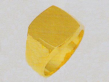 純金印台 24K印台指輪 三味印台 黄金色 メンズリング 角型指輪 男物指輪 送料無料