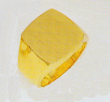 純金印台 24K無垢 男性指輪 三味印台 黄金色 メンズリング 角型指輪 手造り ゴールドリング 送料無料