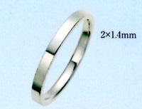 PT900 プラチナ エンゲージリング 結婚指輪 ブライダルリング 2,0mm 平打無地リング ファッションリング ファッションリング 手造りリング 送料無料