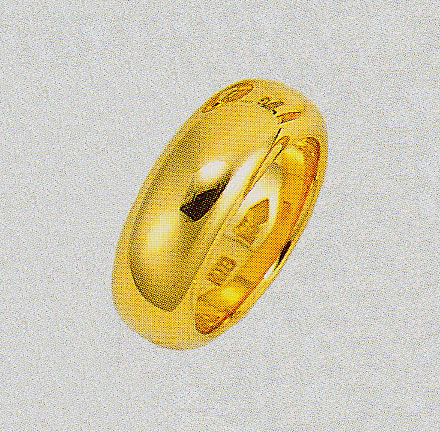 K18金色リング ブライダルリング 結婚指輪 甲丸無地幅7.5mm ファッションリング 巾7.5mm 金指輪 ゴールドリング 送料無料
