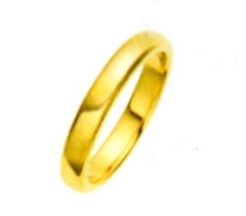 K18YG.エンゲージリング.平打甲丸.結婚指無地リング(3.0mm) (送料無料)