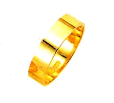 【K18YG】結婚指輪 ブライダルリング 平打無地リング (送料無料)