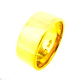 K18YG 平打無地 ブライダルリング 結婚指輪 7.0mm幅 ゴールドリング パイプ輪切タイプ 表面平らリング 18金無垢 手造り ファッションリング 送料無料