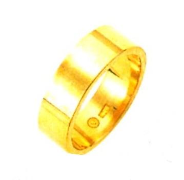 K18YG 平打無地 ブライダルリング 結婚指輪 6.0mm幅 ゴールドリング パイプ輪切タイプ 表面平らリング 18金無垢 手造り ファッションリング 送料無料