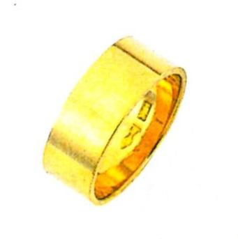 K18YG 平打無地 ブライダルリング 結婚指輪 7.0mm幅 ゴールドリング パイプ輪切タイプ 表面平らリング 18金無垢 手造りリング ファッションリング 送料無料