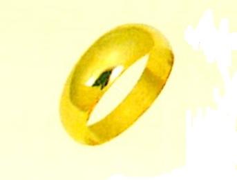 K18YG エンゲージリング 月形甲丸指輪 結婚指輪 無地リング 6mm幅 ブライダルリング ゴールドリング 手造りリング 18金無垢 ファッションリング 送料無料