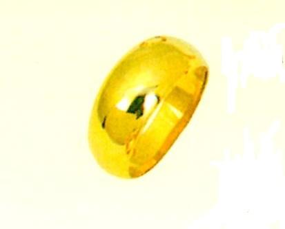 K18月形甲丸無地リング 男女兼用リング ファッションリング 巾8.0mm ゴールドリング 金色指輪 昔の指輪 懐かしい指輪 送料無料