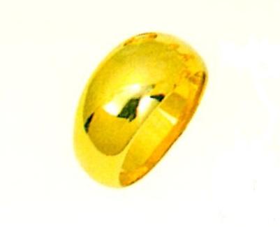 K18月形甲丸無地リング メンズリング ファッションリング 巾10.0mm ゴールドリング 金色指輪 昔の指輪 懐かしい指輪 送料無料