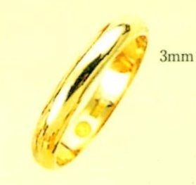 K18金リング エンゲージリング ブライダルリング 甲丸無地リング 手造りリング マリッチリング 結婚指輪 金色リング 幅3.0mm 送料無料
