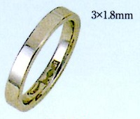 PT900 プラチナエンゲージリング 結婚指輪 平打無地リング 白金 ブライダルリング 白い指輪 ファッションリング 3mm幅 送料無料