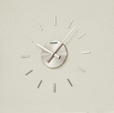 設備時計 シチズン埋込型 子時計 屋内用 角型子時計 JJ-6003r 300x300mm 配線時計 工時時計 電気時計 AC電源時計 電波時計 クリーム色 12mA DC24V 有極30秒運針