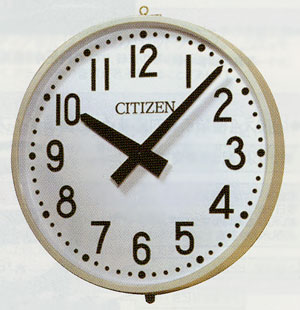 設備時計 屋外時計 シチズン 親子時計 交流式 防雨屋外型 子時計900mm 送料無料