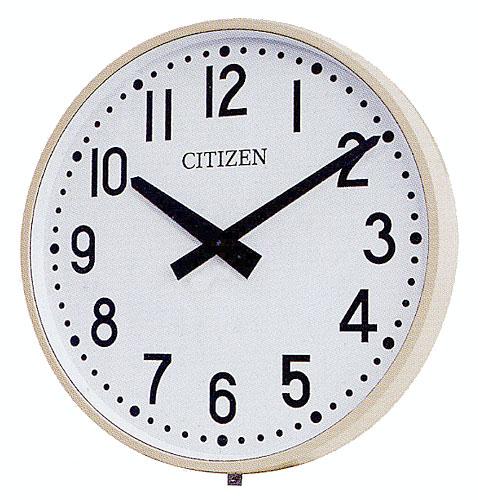 設備時計 屋外時計 シチズン 親子時計 交流式 防雨屋外型 子時計 1000mm 送料無料