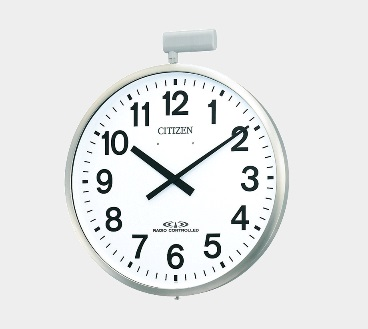 CITIZEN 防水屋外掛け時計 ポール型 10年電池 電波時計500mm 送料無料