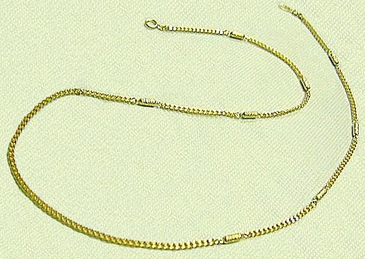 磁気ネックレス メンズタイプ キクオール K18無垢ゴールドチエーン 磁石入 50cm 送料無料