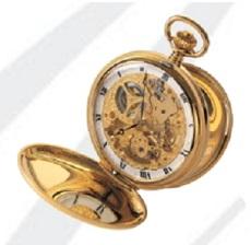 AERO 懐中時計 提げ時計 機械式手巻 金張りケース仕様 ポケットウオッチ メカニカルウオッチ 送料無料