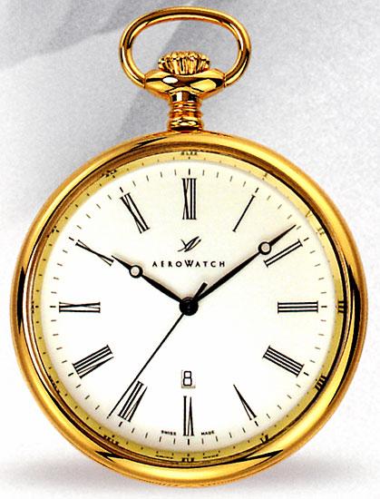 アエロ 懐中時計 提げ時計 ポケットウオッチ スイス製クオーツ 送料無料