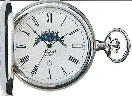 ラポート PW81 懐中時計 提げ時計 ポケットウオッチ クオーツ イギリス 送料無料