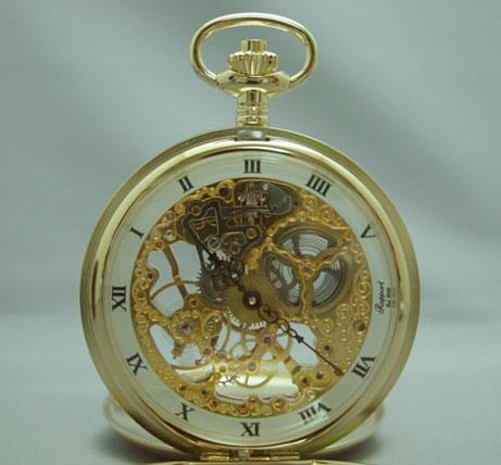 ラポート PW90 懐中時計 提げ時計 ポケットウオッチ ふた両面開き 手巻 イギリス 送料無料