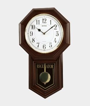 リズム 報時付 振子時計 ベングラーR クオーツ 特価品オーロラサウンド 時報電子音 ウエストミンスターチャイム(18)