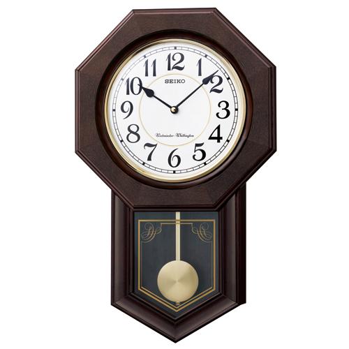一番の セイコークオーツ ウエストミンスター・チャイム 報時時計 正時数取り 和音打ち 柱時計 振り子時計の伝統的スタイル「八角尾長」。今も昔も変わらぬ時をチャイムでお知らせします。送料無料, 家具インテリア大川家具通販 edfaecdf