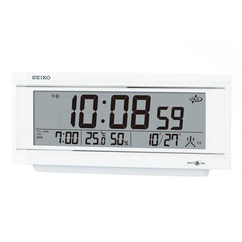 セイコー スペースリンク置時計 ご家庭からオフィスまで幅広くお使いいただけます 衛星電波修正機能 送料無料