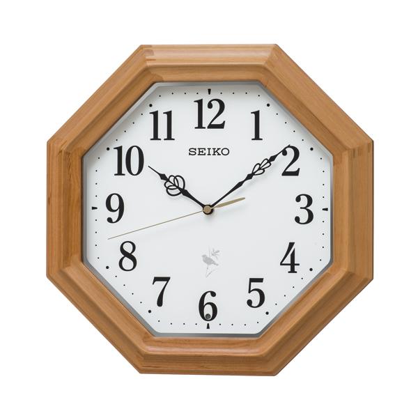 SEIKO 電波クロック 12種の鳥のさえずりでやさしく報時スタンダードデザインの掛時計 送料無料