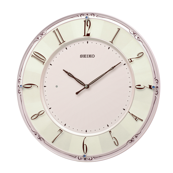 SEIKO 電池寿命約5年間 エレガントなデザインの薄型の電波掛時計 ギフトに最適です 送料無料