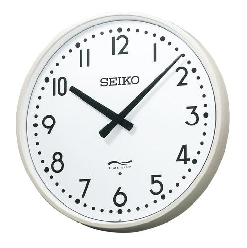 設備時計 seiko タイムリンククロック リチウム電池式 無線時計 子時計 電池式 リチウム電池式 送料無料