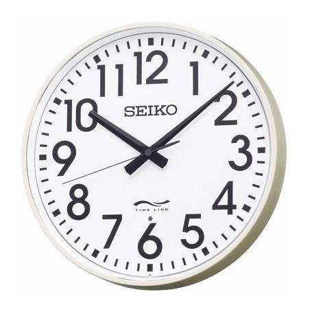 設備時計 seiko タイムリンククロック リチウム電池式 無線時計 子時計 電池式 秒針付き リチウム電池式 送料無料