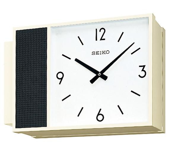 設備時計 SEIKO 子時計 スタンダードでシンプルなデザイン 学校 オフィス、病院や公共施設などに最適です。壁面や柱から張り出すように取り付けます。(スピーカ機能付)送料無料