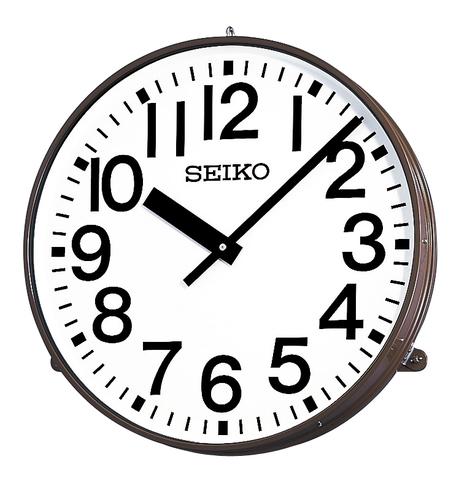 SEIKO 屋内/屋外兼用子時計 壁掛け型 視認性に優れた大型の子時計 学校やビルの外壁に最適です。送料無料