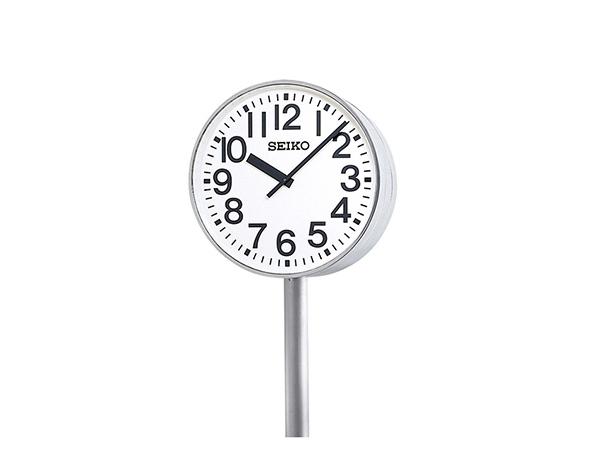 SEIKO 設備時計 屋内/屋外兼用大型子時計 視認性に優れた大型の両面ポール型子時計です。省エネルギーで環境に優しいLED内部照明付 700mm 送料無料