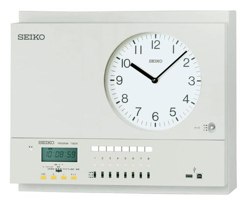 SEIKO 年間プログラムタイマー付水晶親時計 学校やオフィス工場などで、照明・空調設備等 ON/OFF管理し、正確な時刻管理をサポートします。1回路 子時計駆動(約30台)送料無料