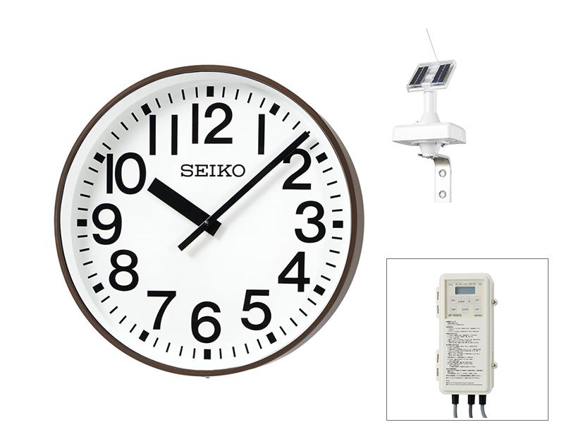 SEIKO屋外時計 GNSS衛星電波時計【鋼板製】壁掛型 ソーラー式 ø550 送料無料