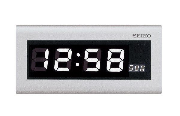 SEIKO屋内用ウィークリーデジタルクロック【壁掛型】 時・分・曜日(秒)をLEDでデジタル表示するウィークリーデジタルクロック 送料無料