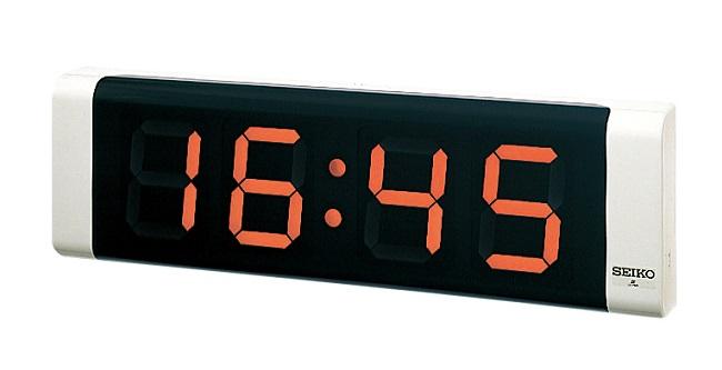 SEIKOLED式デジタルクロック 壁掛型 文字高120mm LED(オレンジ)、12時制/24時制切り替え式 送料無料