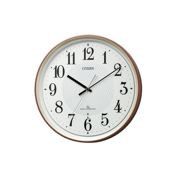CITIZEN 公式ストア 電波掛け時計 壁掛 応接室 在庫処分 時計 カジュアルなスリーウェイブの掛時計です 40KHz 3つの電波を受信 60KHz AMラジオ時報