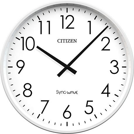 設備時計 シチズン 親子時計 無線式 子時計 オフィスタイプ 屋内用 丸型 シンクウェーブクロック 送料無料