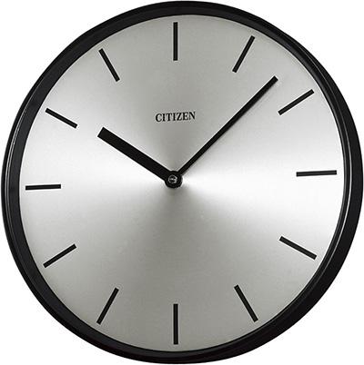 設備時計 シチズン J-4023 壁掛 子時計 屋内用 丸型子時計 直径310mm 配線時計 工時時計 電気時計 AC電源時計 電波時計 黒色 12mA DC24V 有極30秒運針