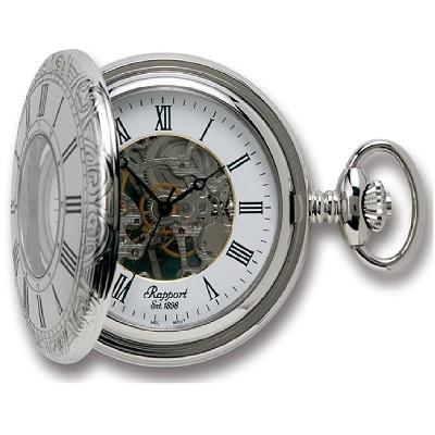 Rapport PW57 懐中時計 提げ時計 ポケットウオッチ ハーフハンター 手巻 イギリス メカニカル 蓋つき 送料無料