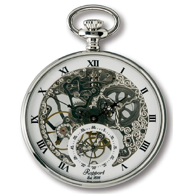 Rapport PW89 懐中時計 提げ時計 ポケットウオッチ 両面スケルトン 手巻 イギリス 送料無料