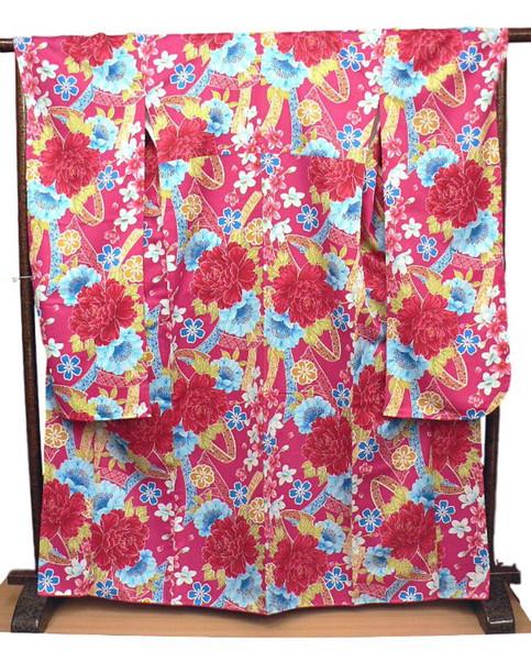 大正浪漫wayu-bi、仕立上り本振袖単品商品 No, 03A・送料サービスでお届けします。晴れやかな晴着・成人式・卒業式・謝恩会・結婚式など華やかに着飾ってください