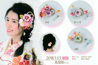 髪飾り ヘアアクセサリー ブランド 振袖 成人式 卒業式 に使える コーム (全3種類)No.20w115